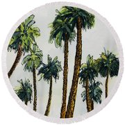 Things Are Looking Up.. Round Beach Towel
