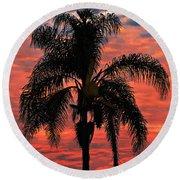 Palmtree Apocalypse Round Beach Towel