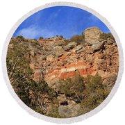 Palo Duro Canyon 021713.102 Round Beach Towel