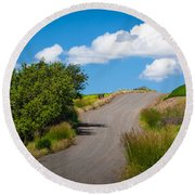 Palouse Country Road Round Beach Towel