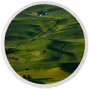 Palouse Green Round Beach Towel