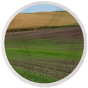 Palouse Patchwork 3 Round Beach Towel