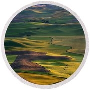 Palouse Shadows Round Beach Towel