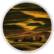 Palouse Sunset From Steptoe Butte Round Beach Towel
