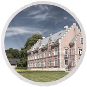 Palsjo Slott In Helsingborg Evening Round Beach Towel