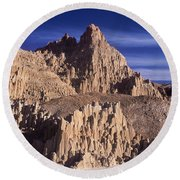 Panaca Sandstone Formations Cathedral Gorge State Park Nevada Round Beach Towel