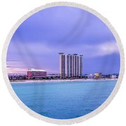 Panama City Beach Round Beach Towel