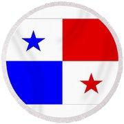 Panama Flag Round Beach Towel