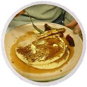 Pancake Breakfast Round Beach Towel