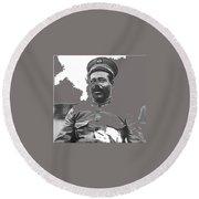 Pancho Villa  Portrait In Military Uniform No Location Or Date-2013 Round Beach Towel