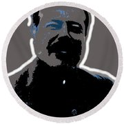 Pancho Villa Portrait Unknown Location Or Date-2013 Round Beach Towel