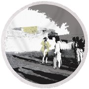 Pancho Villa Talking To Firing Squad Sonora C.1914-2013 Round Beach Towel