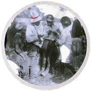 Pancho Villa With Children #1  Durango C. Round Beach Towel
