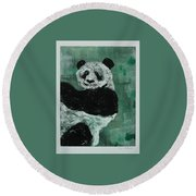 Panda - Monium Round Beach Towel