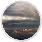 Panorama Clearing Summer Storm Bryce Canyon National Park Utah Round Beach Towel