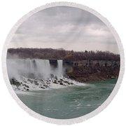 Panorama - Niagara Falls Round Beach Towel