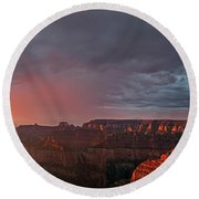 Panorama North Rim Grand Canyon National Park Arizona Round Beach Towel