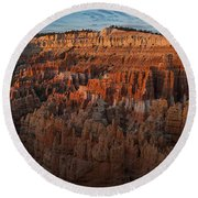 Panorama Of Bryce Canyon Amphitheater Round Beach Towel