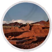 Panorama Of Goblin Valley State Park Utah Round Beach Towel