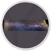 Panorama Of The Northern Milky Way Round Beach Towel