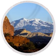 Panorama Point Capitol Reef National Park Utah Round Beach Towel