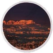 Panorama Rainbow Bryce Canyon National Park Utah Round Beach Towel