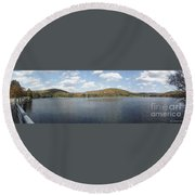Panorama Red House Lake Allegany State Park Round Beach Towel