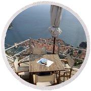 Panorama Restaurant Round Beach Towel