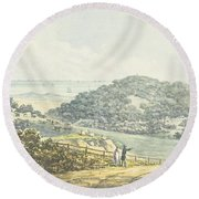 Panoramic After View, From The Red Book Round Beach Towel