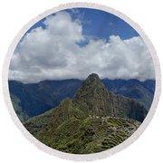 Panoramic Machu Picchu Round Beach Towel