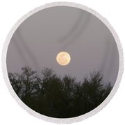 Panoramic New Orleans Moon Rising Round Beach Towel