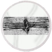 Panoramic Rowing Round Beach Towel