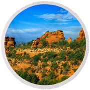 Panoramic View, Sedona, Arizona Round Beach Towel