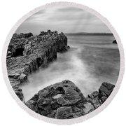 Ballycastle - Pans Rock To Rathlin Island Round Beach Towel