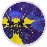 Pansy By Jammer Round Beach Towel
