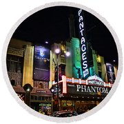 Pantages Theater Round Beach Towel