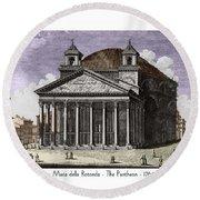 Pantheon Santa Maria Della Rotonda Round Beach Towel