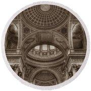 Pantheon Vault Round Beach Towel