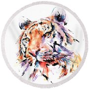 Panthera Tiger II Round Beach Towel