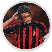 Paolo Maldini Round Beach Towel by Paul Meijering
