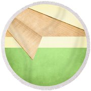 Paper Airplanes Of Wood 17 Round Beach Towel