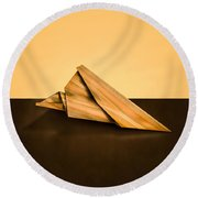 Paper Airplanes Of Wood 2 Round Beach Towel