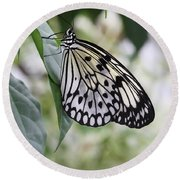 Paper Kite Butterfly Round Beach Towel