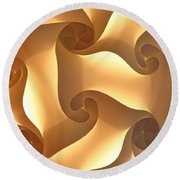 Paper Lantern Abstract Round Beach Towel