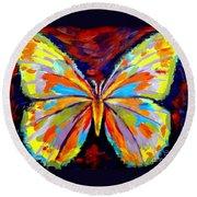 Papillon Colore Round Beach Towel