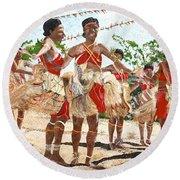 Papua New Guinea Cultural Show Round Beach Towel
