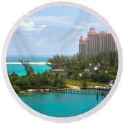 Paradise And Atlantis Round Beach Towel