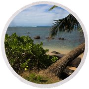 Paradise Awaits Round Beach Towel