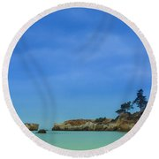 Paradise Beach Round Beach Towel by Marco Oliveira