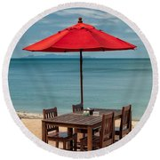 Paradise Dining Round Beach Towel